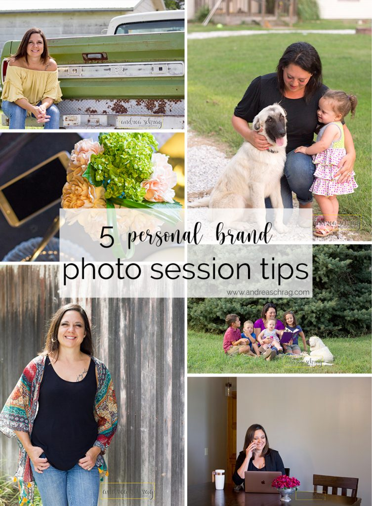 Pinterest image for blog post with 5 tips for your personal brand photo session