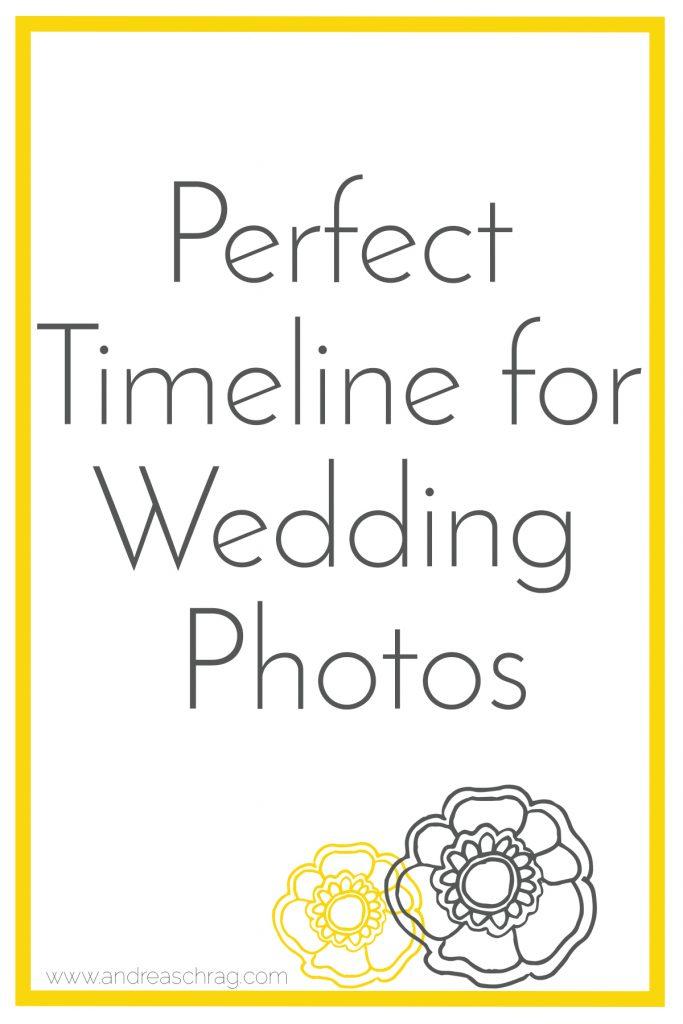 Perfect Timeline for Wedding Photos