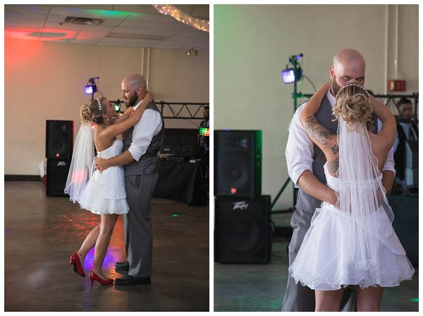 Wedding reception at Encampment Building at the Kansas State Fairgrounds