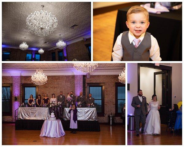wedding reception at the crystal ballroom