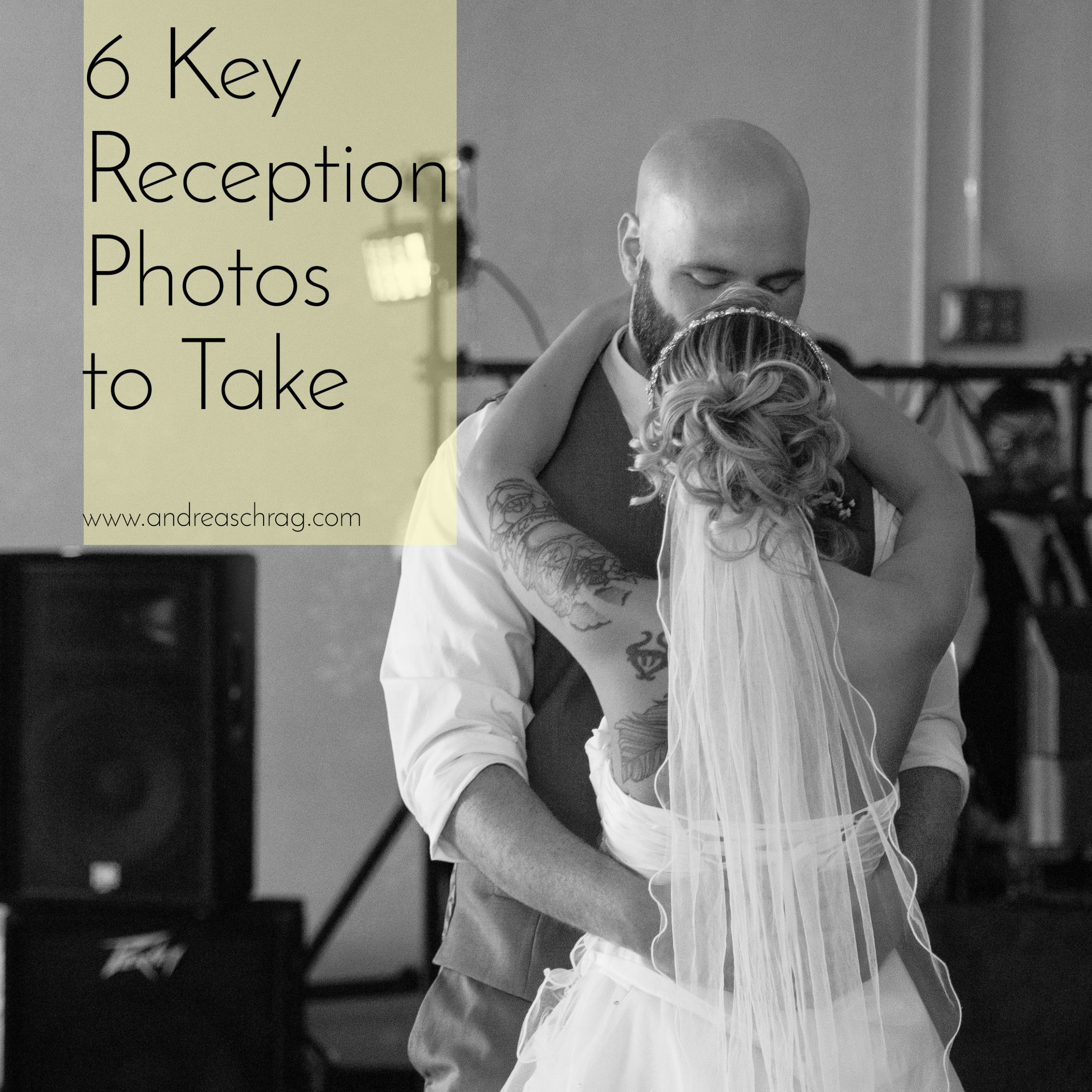 6 key reception photos to take