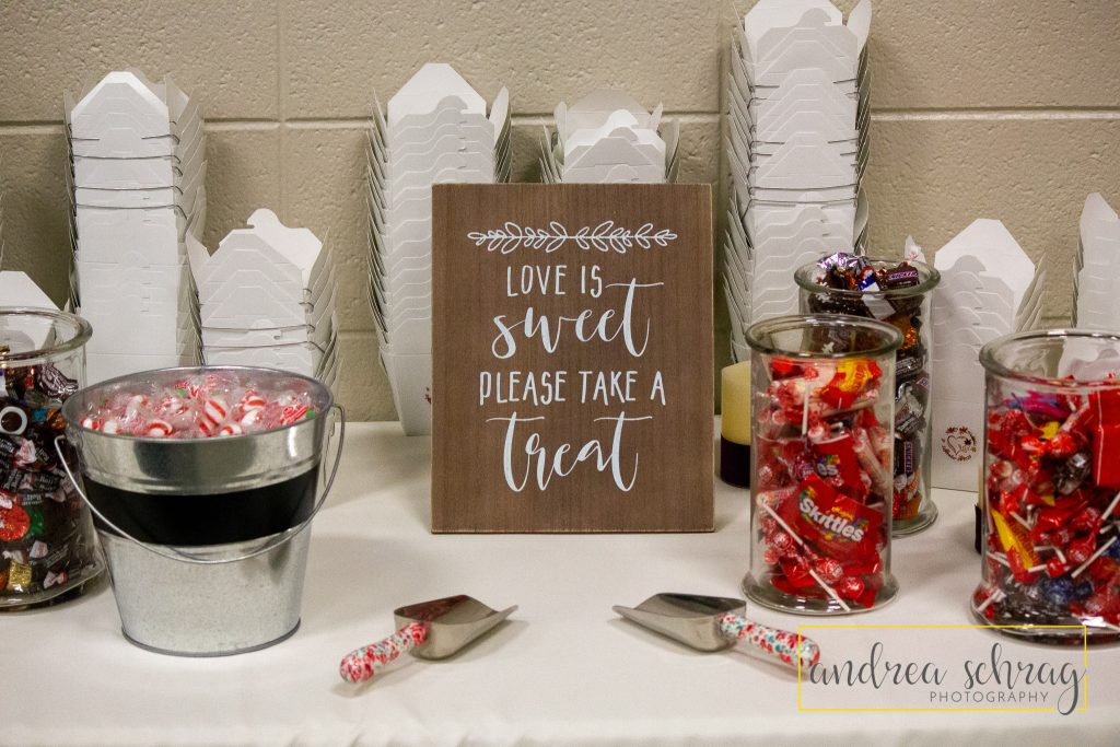 Wedding reception candy favors