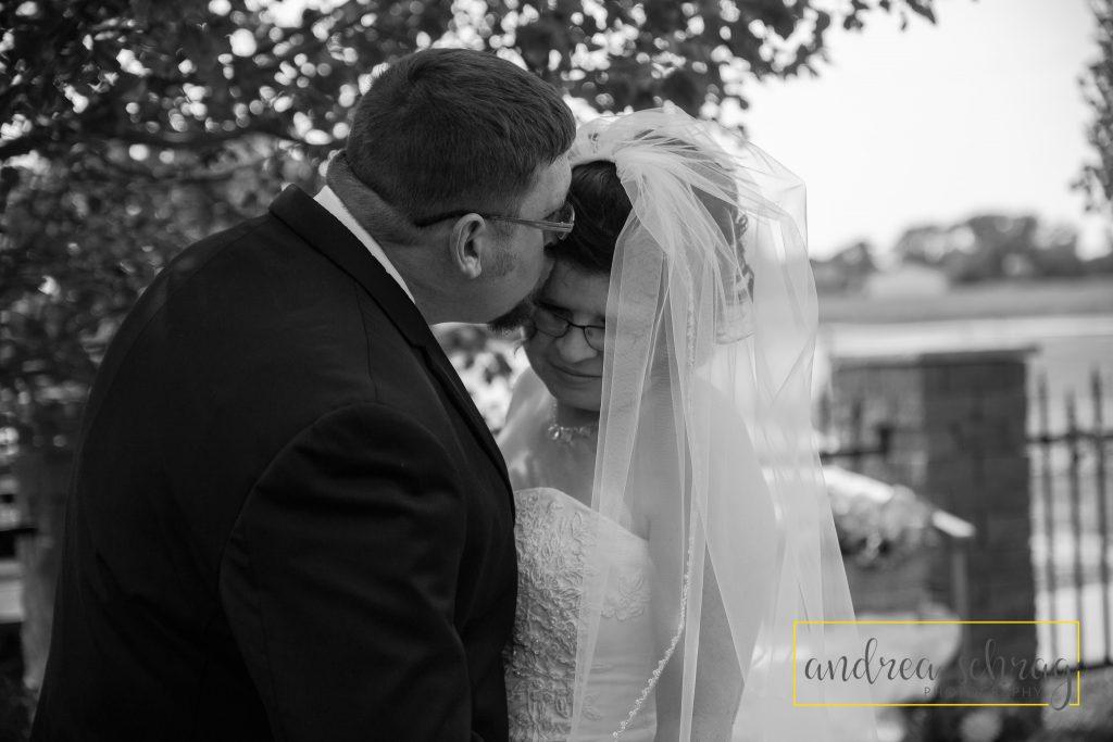 Nickerson wedding bride and groom portraits