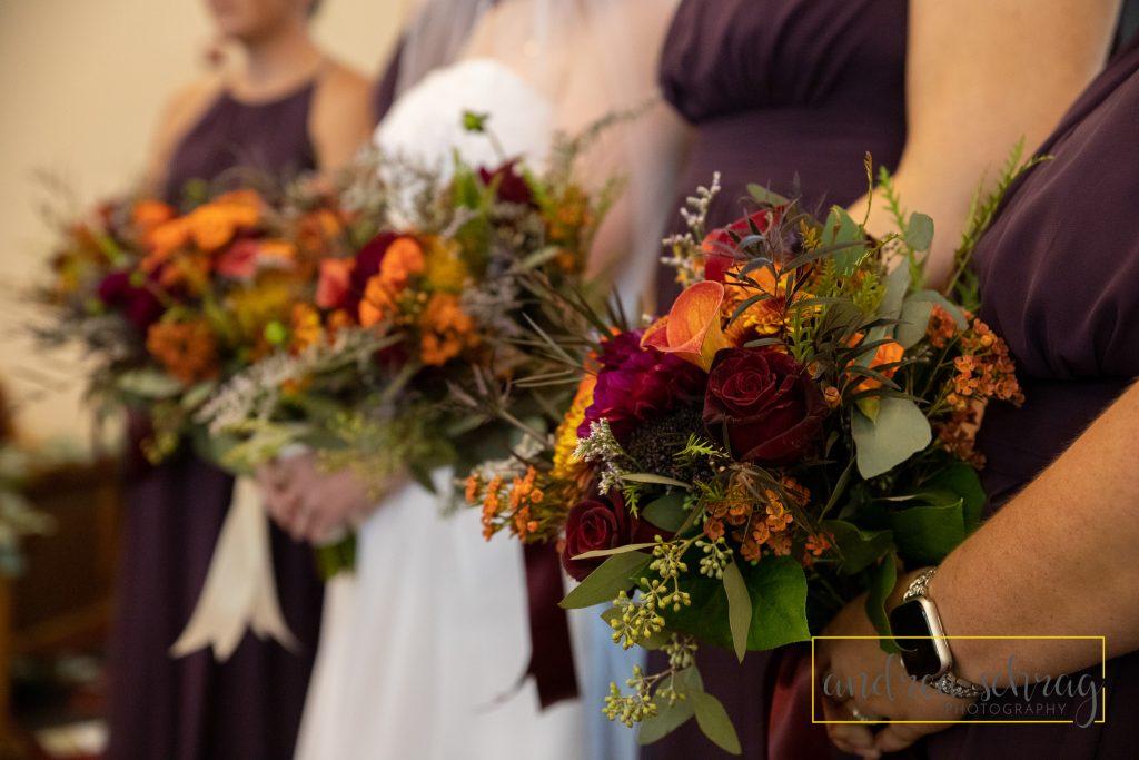Nickerson fall wedding bouquets