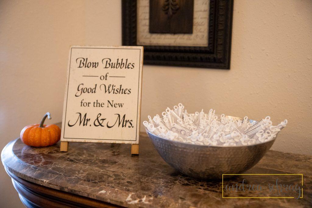 Nickerson wedding bubble exit details