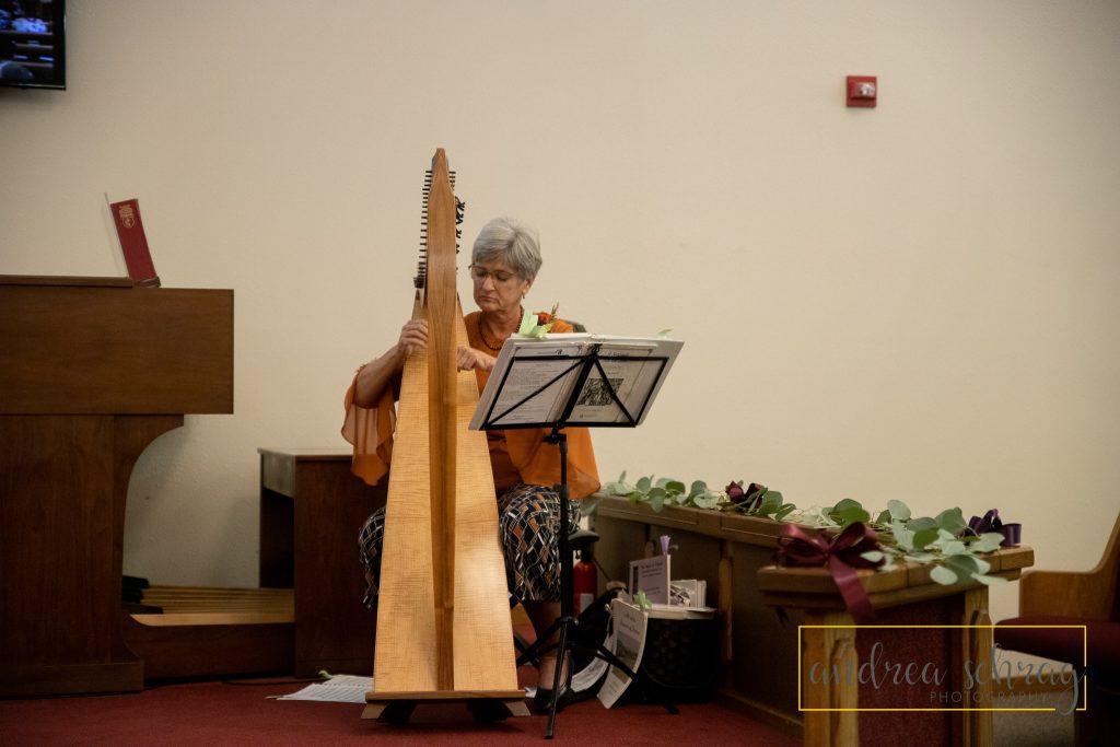 Nickerson wedding harp player