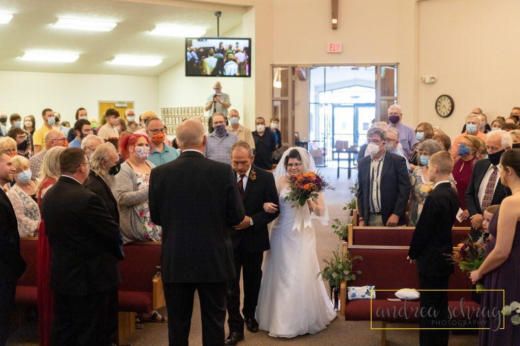 Nickerson wedding bride and father
