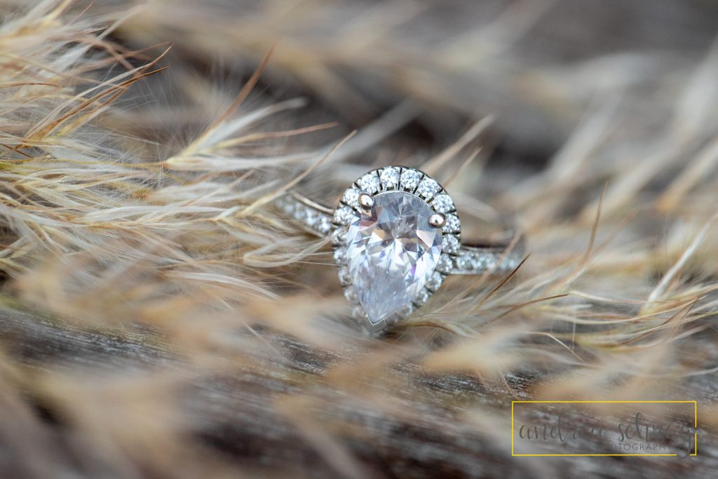 Tear drop engagement ring