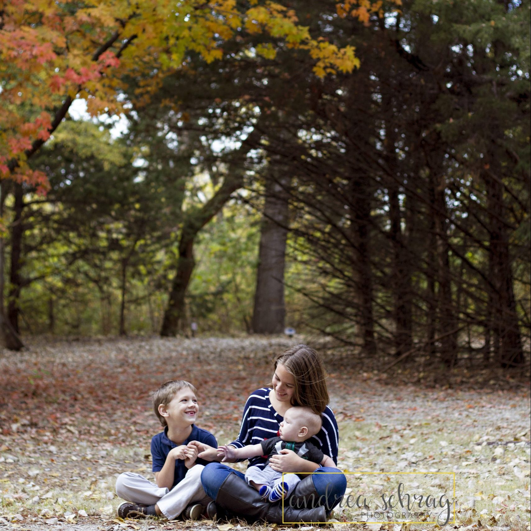 3 kids fall session at Dillon Nature Center