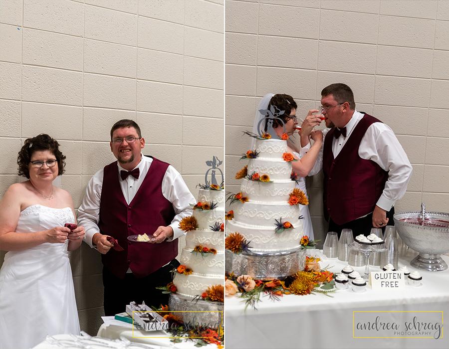 Nickerson wedding fall cake